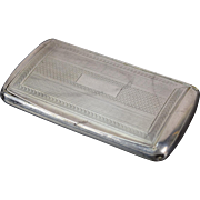 19th Century German Sterling Silver Engine Turned Snuff Box