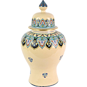 Gorgeous Egyptian Revival Art Nouveau American Satsuma Ginger Jar