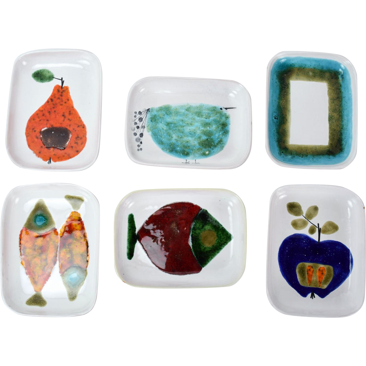 Mid-Century Modern Abstracted Fruit & Animals Ursula Schneider Atelier Rabiusla