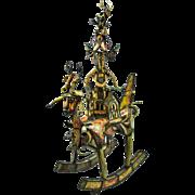 1973 Surrealist Metal Sculpture Viet Nam War Rocking Horse Creature  Clyde Ball