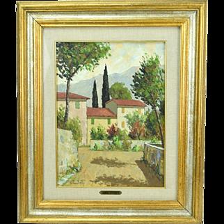 Renzo Paoletti Italian Landscape Oil Painting Abbey of Ripoli Florence