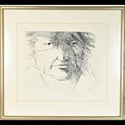"""Leonard Baskin """"Francisco de Goya"""" Limited edition Etching Signed #'d"""