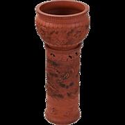Meiji Period Tokoname Japanese Pottery Jardiniere with Pierced Pedestal Stand