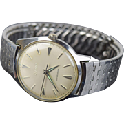 Vintage 1963 Bulova Swiss Mechanical Winding Men's Wrist Watch.