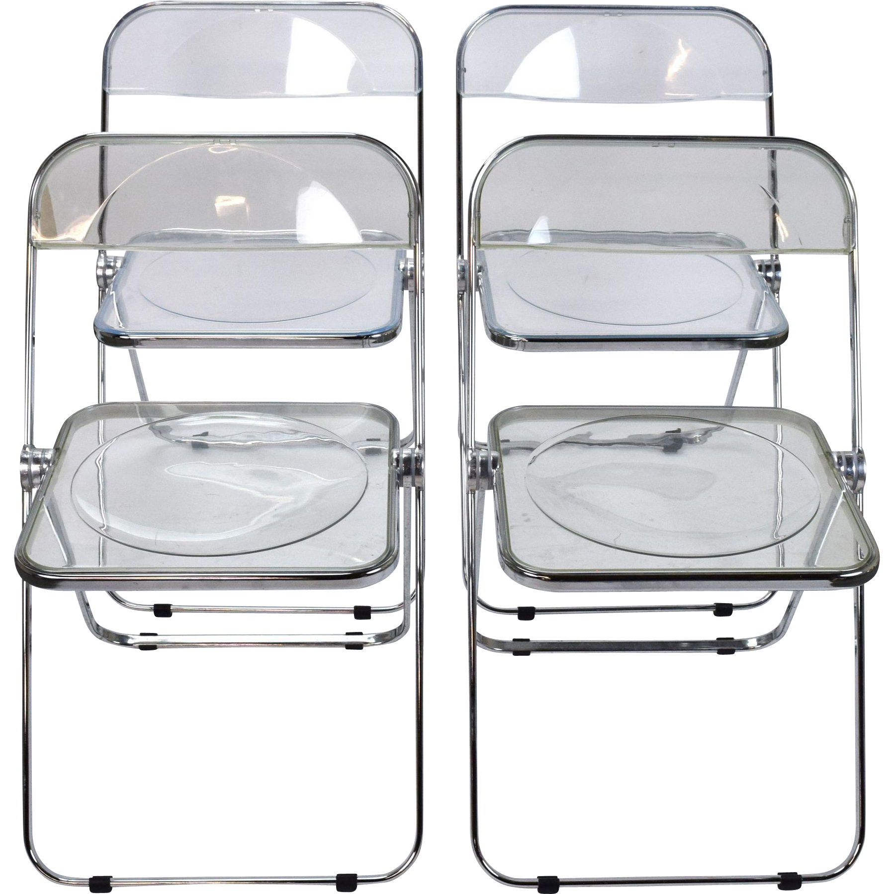 Set 4 Plia Castelli Italian Mid century Modern Lucite Folding