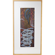 "Steven Sorman ""Step Away - 9th Time"" Abstract Mixed Media L/E Lithograph"