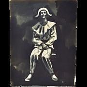 Andre Delfau Original Watercolor Costume Design Harlequin