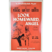 1958 Look Homeward, Angel Anthony Perkins Broadway Theatre Window Card