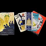 Original 1936 Olympic Games Germany Window Card by Wurbel & ephemera