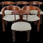 Set 6 Vintage Mid Century Danish Modern Dining Chairs by Kurt Ostervig