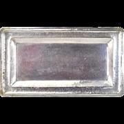 Vintage Hand Hammered Ecuadorian .900 Sterling Silver Rectangular Bread Tray