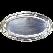 Vintage Hand Hammered Ecuadorian .900 Sterling Silver Large Serving Tray #1