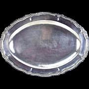 Vintage Hand Hammered Ecuadorian .900 Sterling Silver Large Serving Tray #2