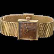 Vintage Oris Men's Swiss Wrist Watch Mesh Band 7 Jewels