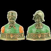 Pair Pompeian Bronze Co. Dutch Couple Bookends