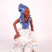 Art Pottery Sculpture African-American Fruit and Vegetable Vendor