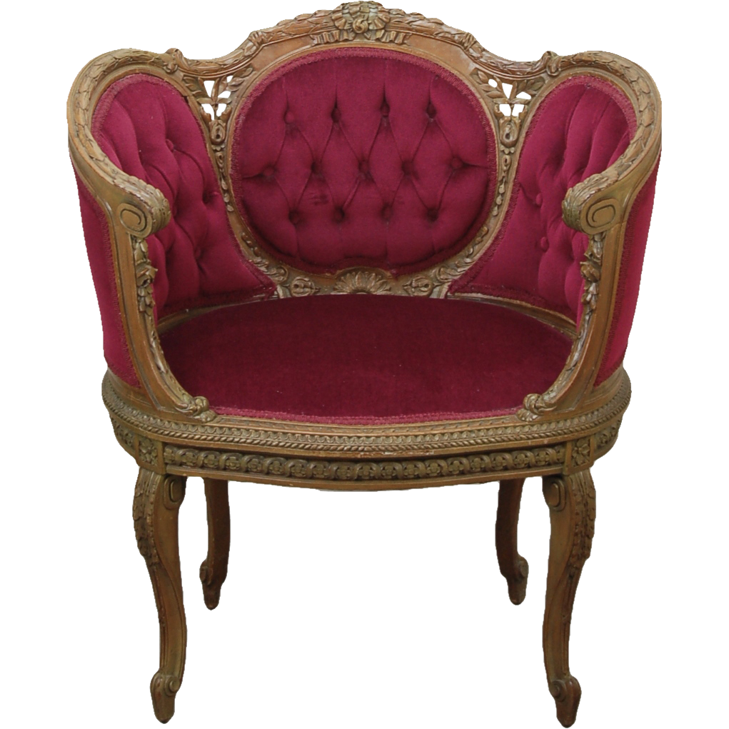 Vintage french finely carved louis xv canap style chair bench sold on ruby lane - Canape style vintage ...
