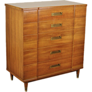 Vintage Widdicomb Mid-Century Modern Dresser Tallboy Chest Clingman