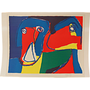 "1969 Karel Appel Lithograph ""Confidences"" Abstract Face L/E 92/120"