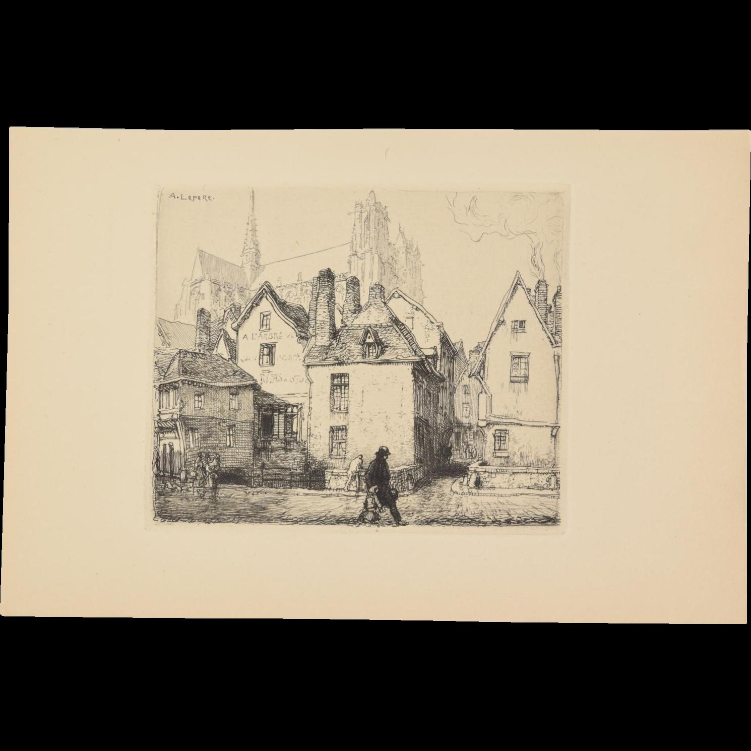 Auguste louis lepere vieille maisons amiens 1910 for Amiens location maison