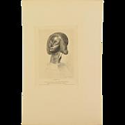 ARTHUR JULES MAYEUR – Chef reliquaire de Sainte Fortunade, 1908 Etching