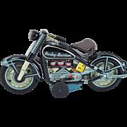 Vintage 1959 TN NOMURA Tin Litho Harley Davidson Motorcycle Friction Toy