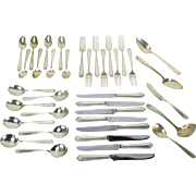 Westmorland Lady Hilton Sterling Silver Flatware Set 37 Piece Service for 8