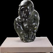 Bernard Matemera Marble Sculpture 3-Finger 3-Toed Bizarre Mythical Figure