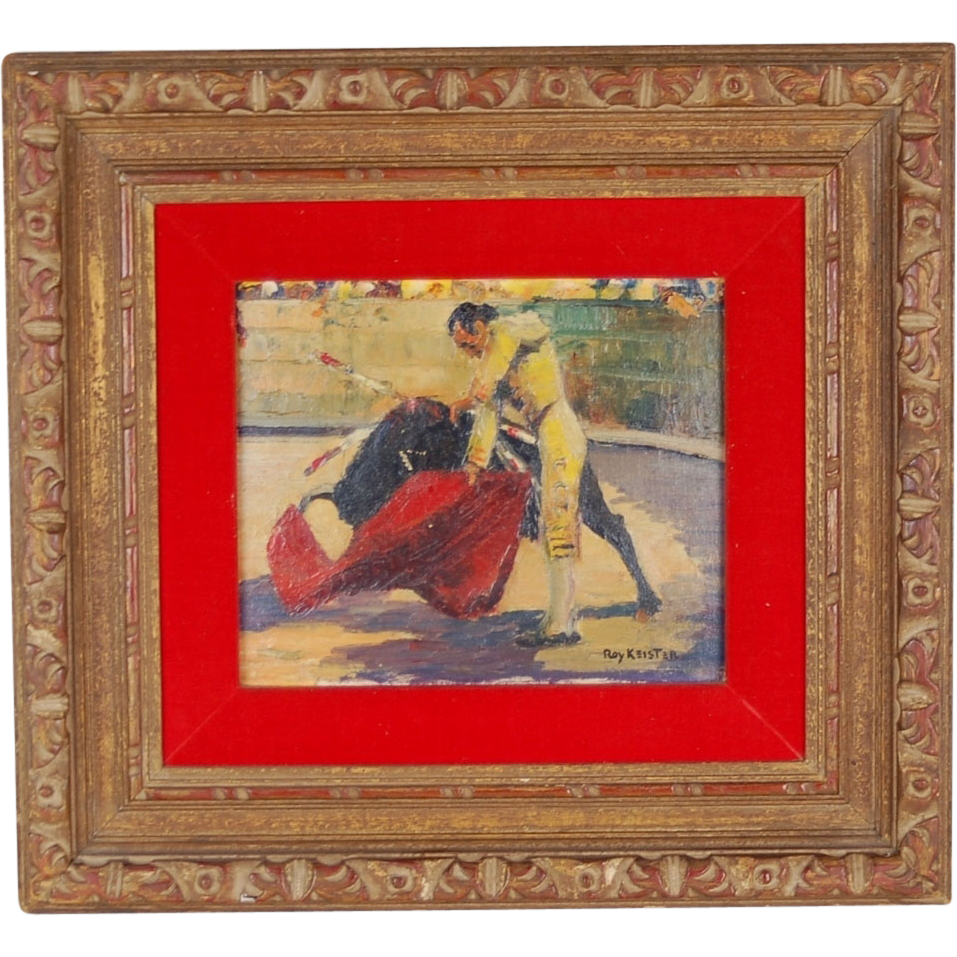 Impressionist Oil Painting Matador Bull Fighter By Roy Keister Chicago Sold On Ruby Lane