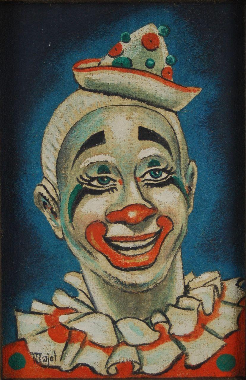 art deco clown coloring pages - photo#33