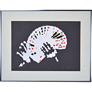 Magic Card Trick Sleight of Hand Limited Edition Screenprint signed Jim Gilchrist