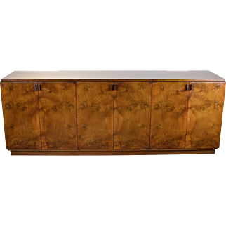 Vintage Mid Century Modern Romweber Burled Walnut Buffet Sideboard Credenza