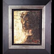 """1969 Vintage Modern Painting """"Elizabeth in Shadow"""" 'My Beloved"""" Noel Daggett"""