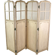 Carved Antique French Style Dressing Screen Folding Room Divider