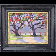 """""""Coral Trees on the Bluffs, Long Beach, California"""" Plein Air Oil Painting"""