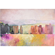 Large California Roughest Expressionist High Desert Abstract Oil Painting by Ross