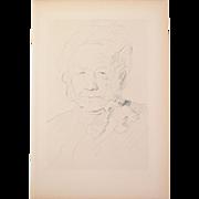 Jeanne Bardey - Portrait 1913 Etching Gazette des Beaux Arts
