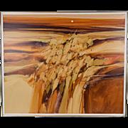 "Large Abstract Southwest Painting ""Cliff Dwelling"" signed Jim Prindiville Arizona"