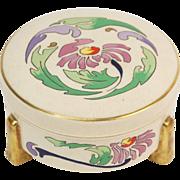 1910 Art Nouveau American Satsuma Hand Painted Enameled Jar Ludwich