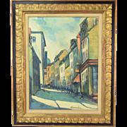 Mid-Century Modern Impressionist Oil Painting Grande Allee Quebec Mathewson