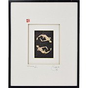 "Jordan Scott ""Floater 2"" Contemporary Abstract L/E Screenprint Chicago Artist"