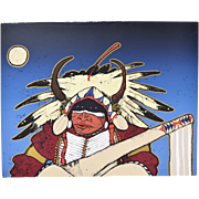 Kevin Red Star Limited Edition Serigraph Native American Warrior signed & numbered