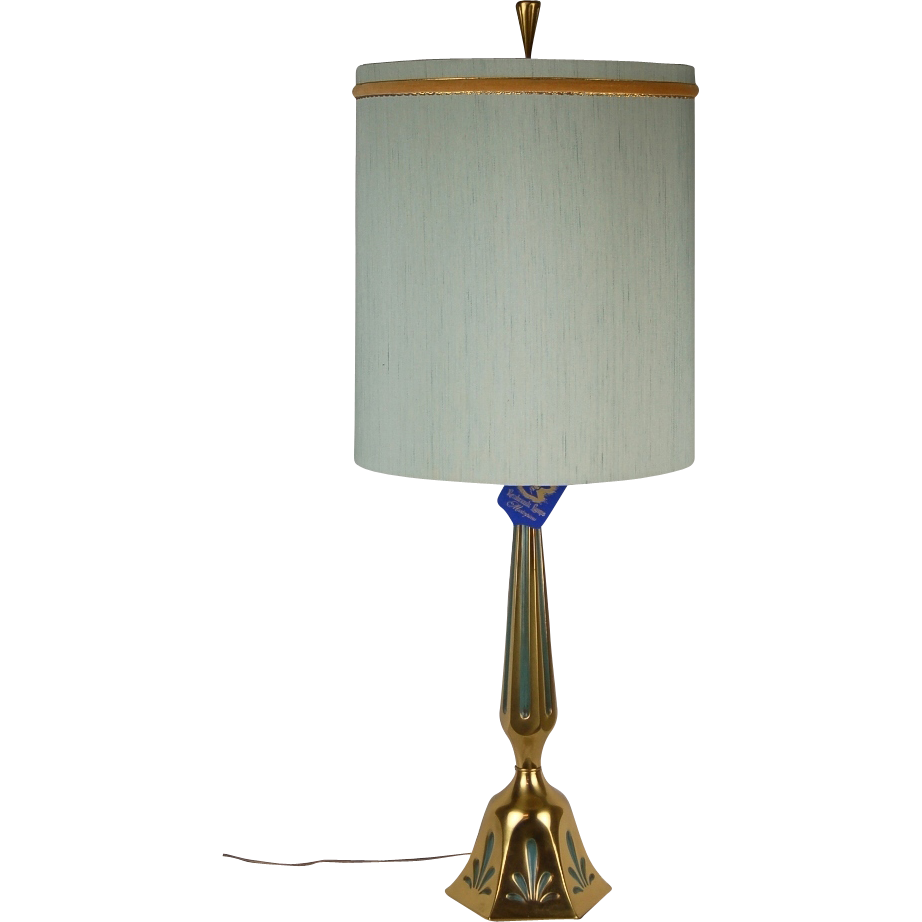 Mid Century Rembrandt Lamp: Mid-Century Modern Rembrandt Brass Table Lamp Original