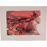 """Western L/E Print """"Always on Guard"""" African-American Buffalo Soldiers"""