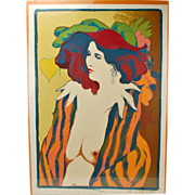 "Frank Gallo ""Carol"" L/E Serigraph Nude Woman  Signed Artist's Proof"