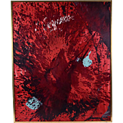 Jean Corbassier 1962 Mid-Century Modern Abstract Oil Painting