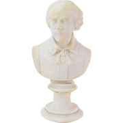 Early 20th Century Carved Marble Bust of William Shakespeare
