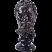 Bust of Michelangelo by Daniele da Volterra by Alva Studios Museum Replica