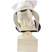 "Fantastic Quimper French Ceramic Sculpture ""Meditation"" Jules-Charles Le Bozec"