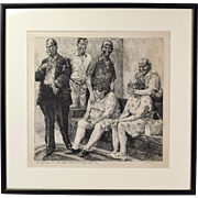 Jeff Whipple L/E Lithograph Middle-Aged Midwesterners in Bizarre scene